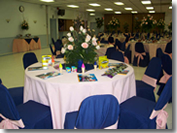 Banquet hall with flowers